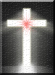 Blood stained cross of Christ